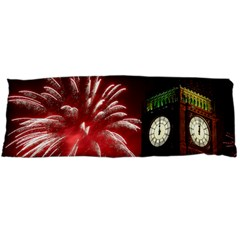 Fireworks Explode Behind The Houses Of Parliament And Big Ben On The River Thames During New Year's Body Pillow Case Dakimakura (two Sides)