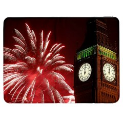 Fireworks Explode Behind The Houses Of Parliament And Big Ben On The River Thames During New Year's Samsung Galaxy Tab 7  P1000 Flip Case
