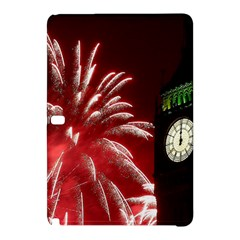 Fireworks Explode Behind The Houses Of Parliament And Big Ben On The River Thames During New Year's Samsung Galaxy Tab Pro 10 1 Hardshell Case