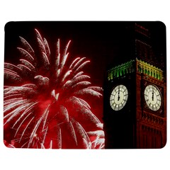 Fireworks Explode Behind The Houses Of Parliament And Big Ben On The River Thames During New Year's Jigsaw Puzzle Photo Stand (Rectangular)