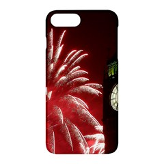 Fireworks Explode Behind The Houses Of Parliament And Big Ben On The River Thames During New Year's Apple Iphone 7 Plus Hardshell Case