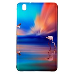 Flamingo Lake Birds In Flight Sunset Orange Sky Red Clouds Reflection In Lake Water Art Samsung Galaxy Tab Pro 8 4 Hardshell Case