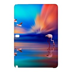 Flamingo Lake Birds In Flight Sunset Orange Sky Red Clouds Reflection In Lake Water Art Samsung Galaxy Tab Pro 12 2 Hardshell Case