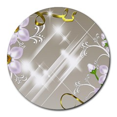 Floral Delight Round Mousepads
