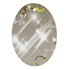 Floral Delight Ornament (oval)