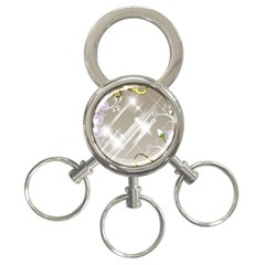 Floral Delight 3 Ring Key Chains