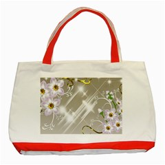 Floral Delight Classic Tote Bag (red)