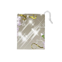 Floral Delight Drawstring Pouches (small)