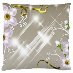 Floral Delight Standard Flano Cushion Case (one Side)
