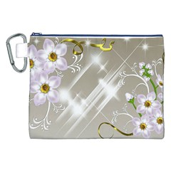 Floral Delight Canvas Cosmetic Bag (xxl)