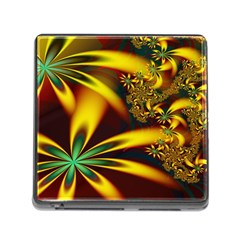 Floral Design Computer Digital Art Design Illustration Memory Card Reader (square)