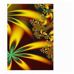 Floral Design Computer Digital Art Design Illustration Small Garden Flag (two Sides)