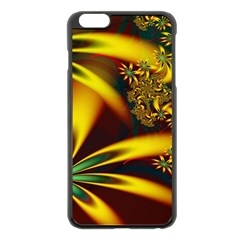 Floral Design Computer Digital Art Design Illustration Apple Iphone 6 Plus/6s Plus Black Enamel Case