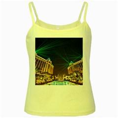 Galaxy Hotel Macau Cotai Laser Beams At Night Yellow Spaghetti Tank