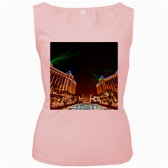 Galaxy Hotel Macau Cotai Laser Beams At Night Women s Pink Tank Top
