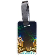 Galaxy Hotel Macau Cotai Laser Beams At Night Luggage Tags (two Sides)