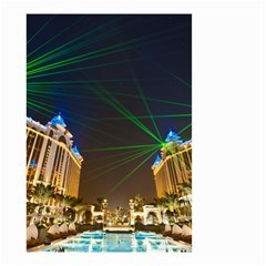 Galaxy Hotel Macau Cotai Laser Beams At Night Small Garden Flag (two Sides)