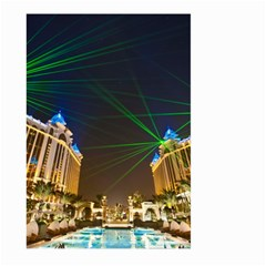 Galaxy Hotel Macau Cotai Laser Beams At Night Large Garden Flag (two Sides)