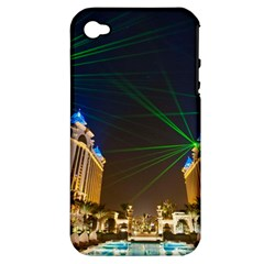 Galaxy Hotel Macau Cotai Laser Beams At Night Apple Iphone 4/4s Hardshell Case (pc+silicone)