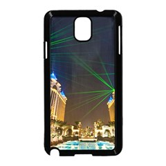 Galaxy Hotel Macau Cotai Laser Beams At Night Samsung Galaxy Note 3 Neo Hardshell Case (black)