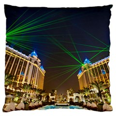 Galaxy Hotel Macau Cotai Laser Beams At Night Standard Flano Cushion Case (one Side)