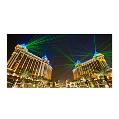 Galaxy Hotel Macau Cotai Laser Beams At Night Satin Wrap