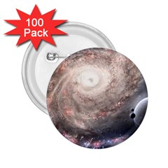 Galaxy Star Planet 2 25  Buttons (100 Pack)