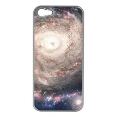 Galaxy Star Planet Apple Iphone 5 Case (silver)