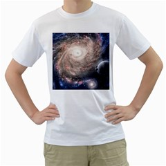 Galaxy Star Planet Men s T Shirt (white)