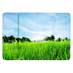 Green Landscape Green Grass Close Up Blue Sky And White Clouds Samsung Galaxy Tab 8 9  P7300 Flip Case