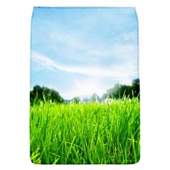 Green Landscape Green Grass Close Up Blue Sky And White Clouds Flap Covers (s)
