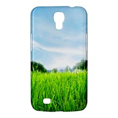 Green Landscape Green Grass Close Up Blue Sky And White Clouds Samsung Galaxy Mega 6 3  I9200 Hardshell Case