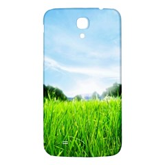 Green Landscape Green Grass Close Up Blue Sky And White Clouds Samsung Galaxy Mega I9200 Hardshell Back Case