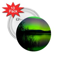 Green Northern Lights Canada 2 25  Buttons (10 Pack)