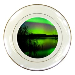Green Northern Lights Canada Porcelain Plates