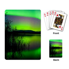 Green Northern Lights Canada Playing Card