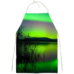 Green Northern Lights Canada Full Print Aprons
