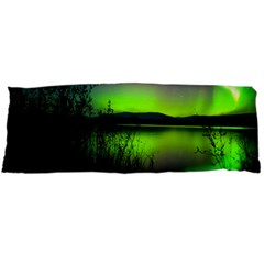 Green Northern Lights Canada Body Pillow Case Dakimakura (two Sides)