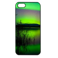 Green Northern Lights Canada Apple Iphone 5 Seamless Case (black)
