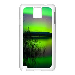 Green Northern Lights Canada Samsung Galaxy Note 3 N9005 Case (white)