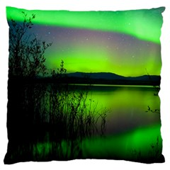 Green Northern Lights Canada Standard Flano Cushion Case (two Sides)