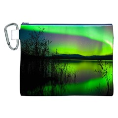 Green Northern Lights Canada Canvas Cosmetic Bag (xxl)