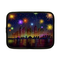 Happy Birthday Independence Day Celebration In New York City Night Fireworks Us Netbook Case (small)