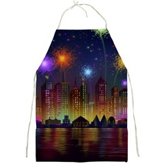 Happy Birthday Independence Day Celebration In New York City Night Fireworks Us Full Print Aprons