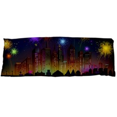 Happy Birthday Independence Day Celebration In New York City Night Fireworks Us Body Pillow Case Dakimakura (two Sides)