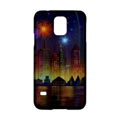 Happy Birthday Independence Day Celebration In New York City Night Fireworks Us Samsung Galaxy S5 Hardshell Case