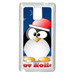 Happy Holidays Christmas Card With Penguin Samsung Galaxy Note 4 Case (white)