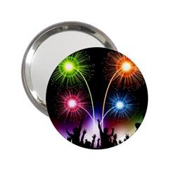 Happy New Year 2017 Celebration Animated 3d 2 25  Handbag Mirrors