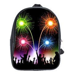 Happy New Year 2017 Celebration Animated 3d School Bags(large)