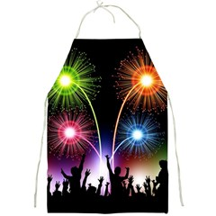 Happy New Year 2017 Celebration Animated 3d Full Print Aprons